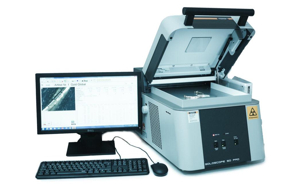 Zerstörungsfreie Prüfung von Gold - Goldscope Röntgenfluoreszenz-Gerät