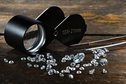 Diamantenverkauf